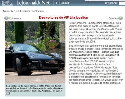 Report on le Figaro JUST4VIP